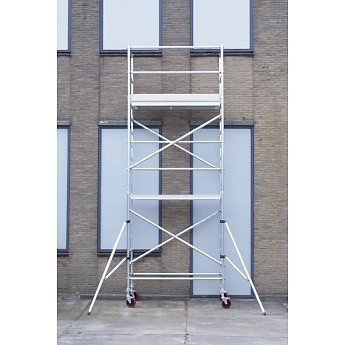 Euroscaffold Basic-line rolsteiger 6,2 meter werkhoogte, 190cm platform met extra vloer