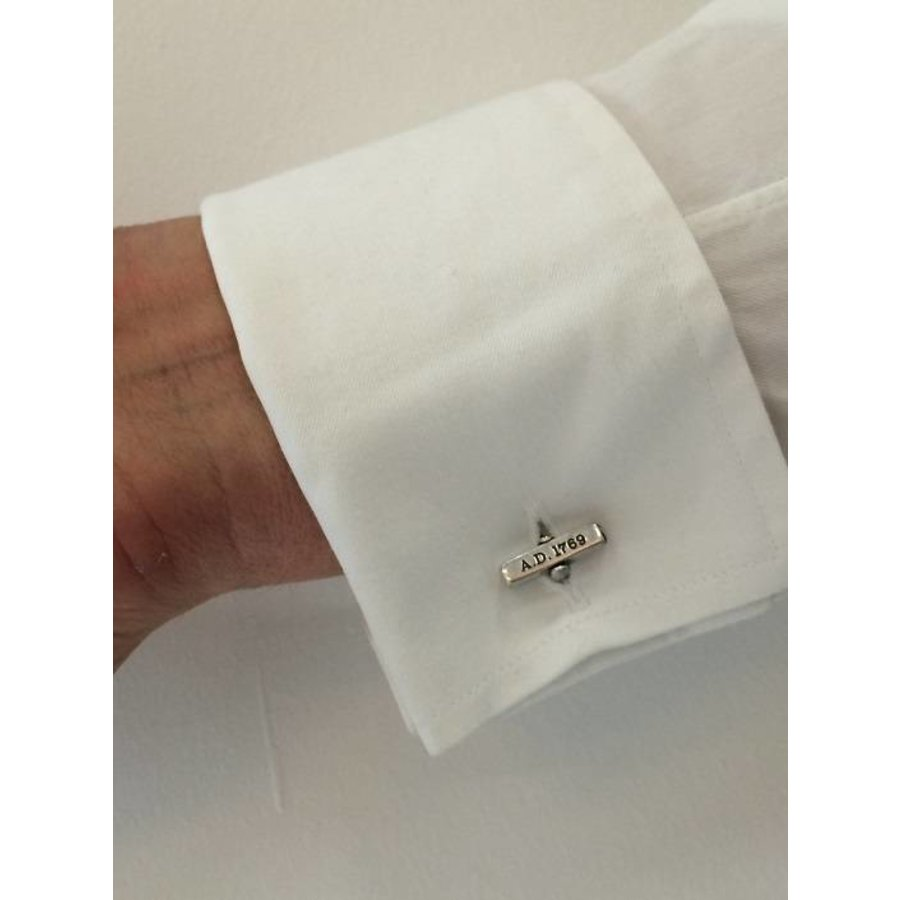 THE BOLD CUFFLINKS - SILVERD