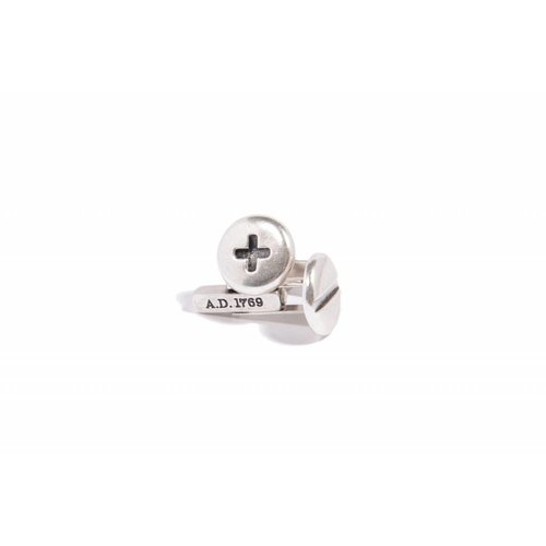 PLUS/MINUS CUFFLINKS - SILVER