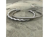 DRILLED CUFF - SILVER PLATED