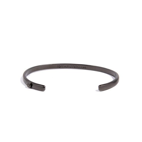 BOLD CUFF - 4MM - GUN METAL