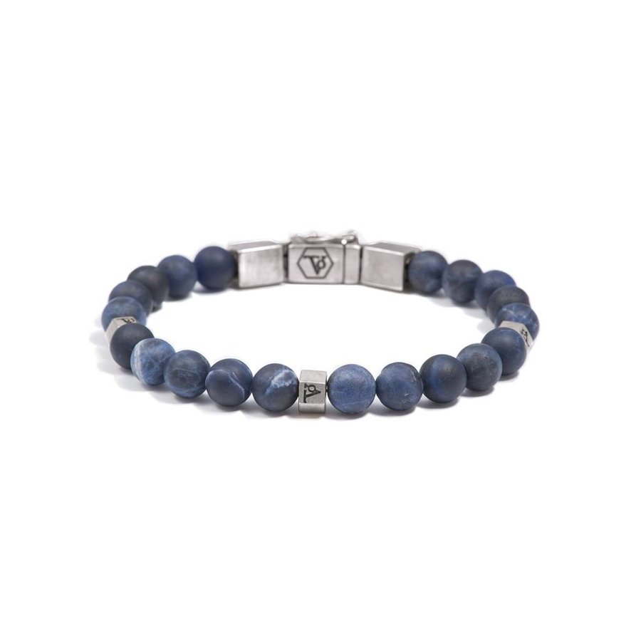 THE MEN WITH BALLS 8MM - BLUE VEINS - SILVER