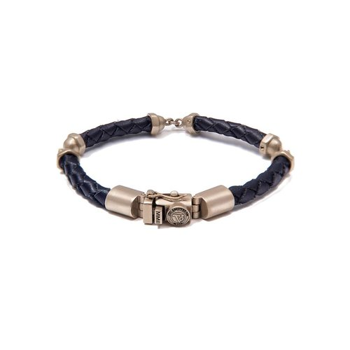 THE SCREW YOU BRACELET - DARK BLUE - BRASS