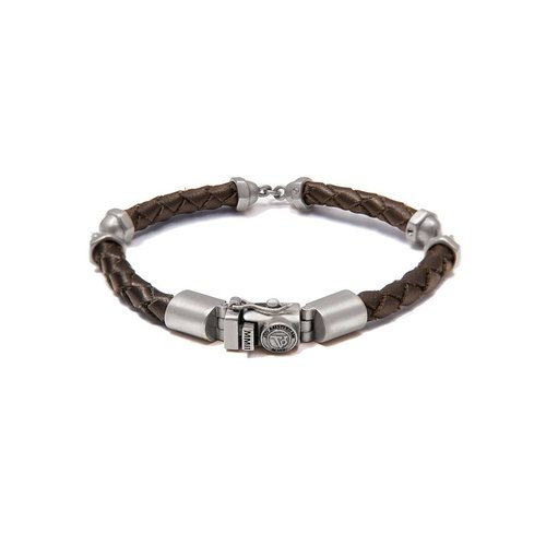 THE SCREW YOU BRACELET - DARKBROWN - SILVER