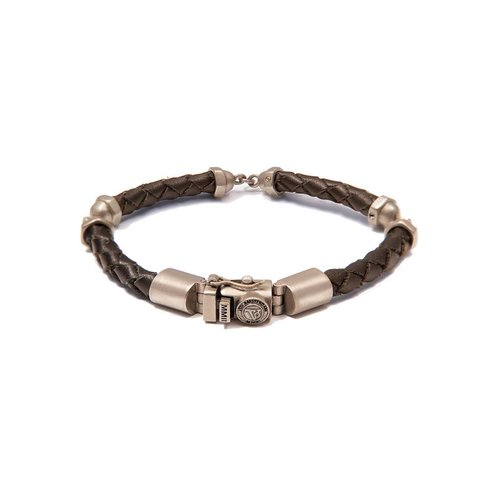 THE SCREW YOU BRACELET - DARKBROWN - BRASS