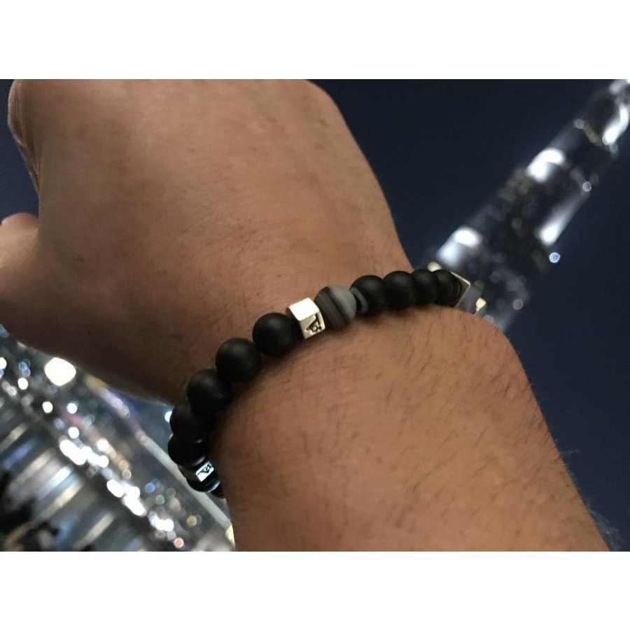 THE MEN WITH BALLS 8MM - BLACK - SILVER