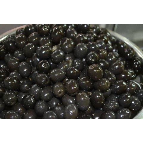 1 Kg Eingelegte Oliven schwarz mit Stein - KOHLENHYDRAT ARM