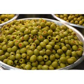 NEU! 200 GRAMM Eingelegte Oliven mit Paprika - KOHLENHYDRAT ARM