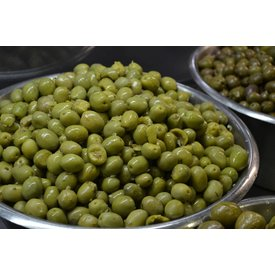 1 KG olives with stone and chopped garlic - Copy