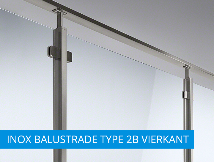 INOX balustrade type2B