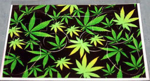 Playstation 3 Dualshock Controller Sticker Marijuana
