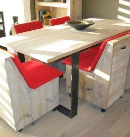 Bcdesignwood Industriele Tafel met Steigerhouten blad NORBERT