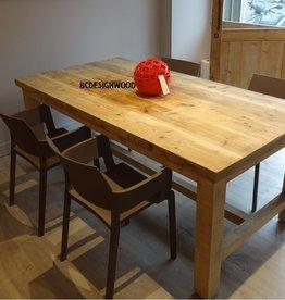 Bcdesignwood Steigerhouten tafel DELPHI