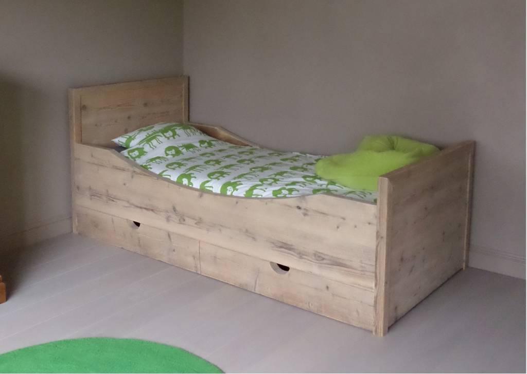 Bed steigerhout model ben op en top klasse bcdesignwood bvba