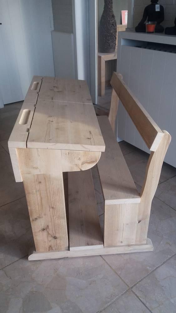 Schoolbank lessenaar in gebruikt steigerhout bcdesignwood uw steigerhout meubel fabrikant - Kamer wanddecoratie kind ...