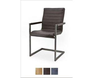 Stoel Te Koop : Industriele lederen stoelen te koop norbert met armleuning vintage