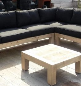 Bcdesignwood Promo Lounge houten hoekbank