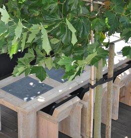 Bcdesignwood tuinset= tafel arduininleg 340x100 cm