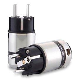 Furutech FI-48M(Rhodium) Shielded Schuko Plug