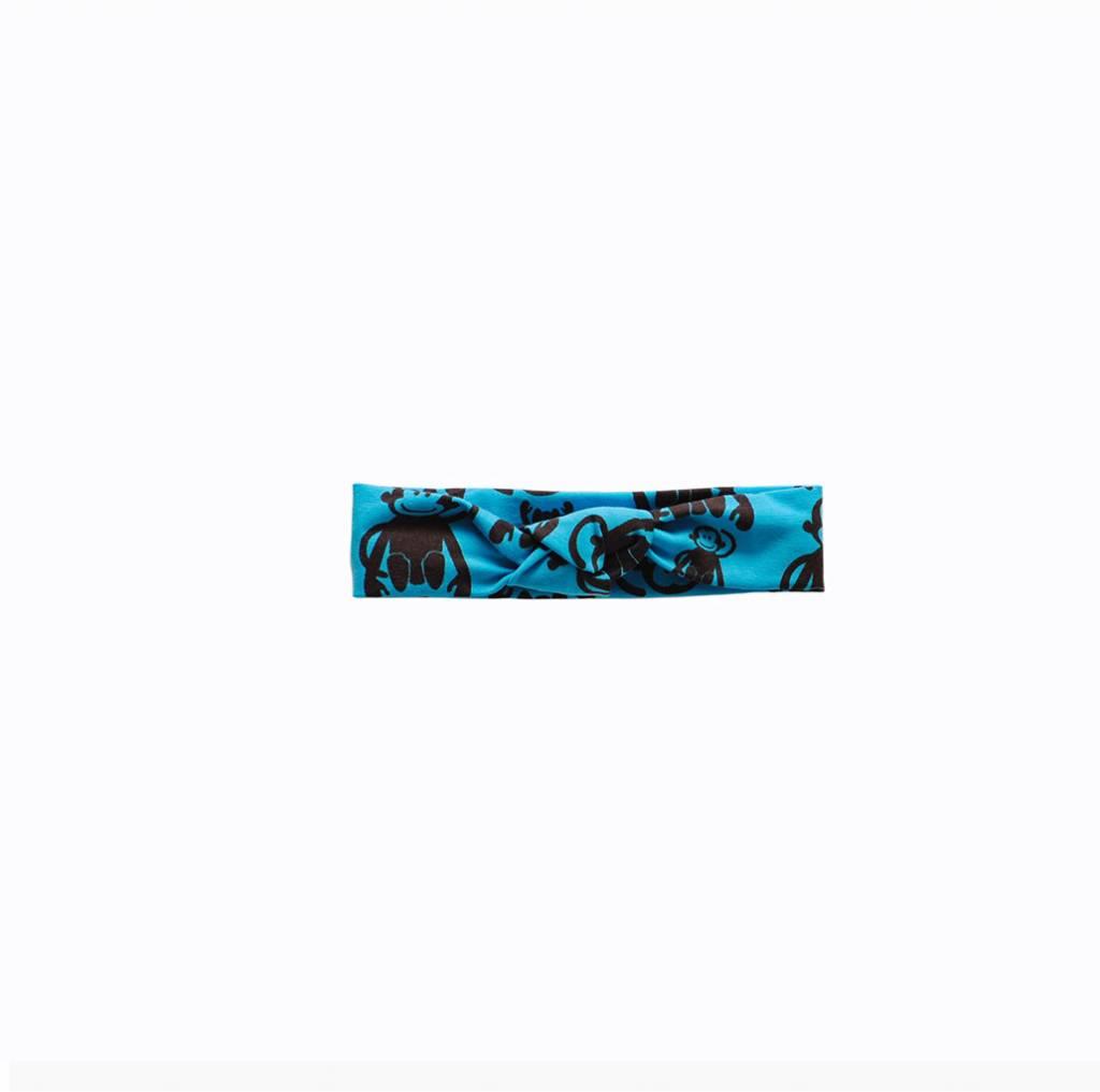 tinymoon Funky Monkey blue / haarband knoop