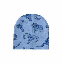 Tiny Torro blue / newborn beanie / mutsje