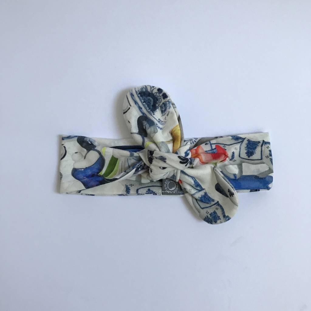 Delft Blue  / haarband strik