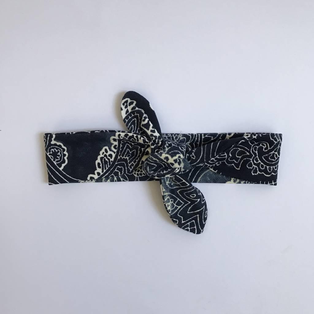 tinymoon Batik Blue  / haarband strik