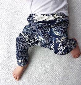 Batik Blue / drop crotch