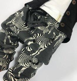 Zippy Zebra grey / drop crotch