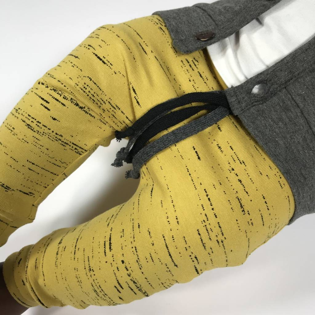 tinymoon Ocre Stripe / drop crotch