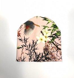 Bamboo Breeze pink / newborn beanie / mutsje