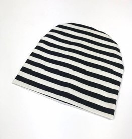 Stripe black-white /  newborn beanie / mutsje