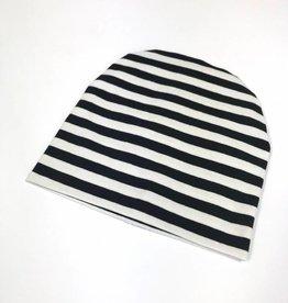 Stripe black-white /  newborn beanie / mutsje