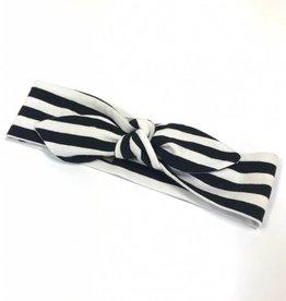 Stripe black-white / haarband strik