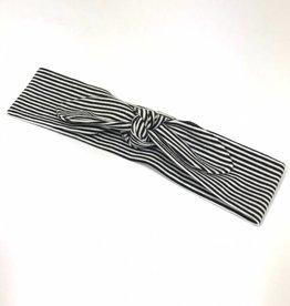 Fine Stripe black / haarband strik