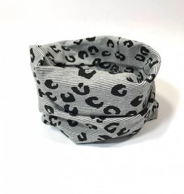 Leopard Lines black  / colsjaal