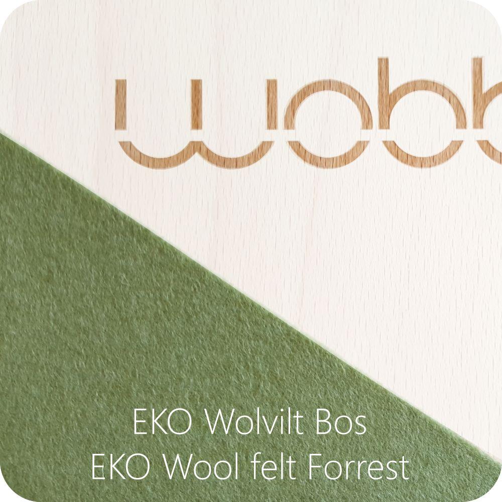 Wobbel XL Linen; whitewashed beech wood