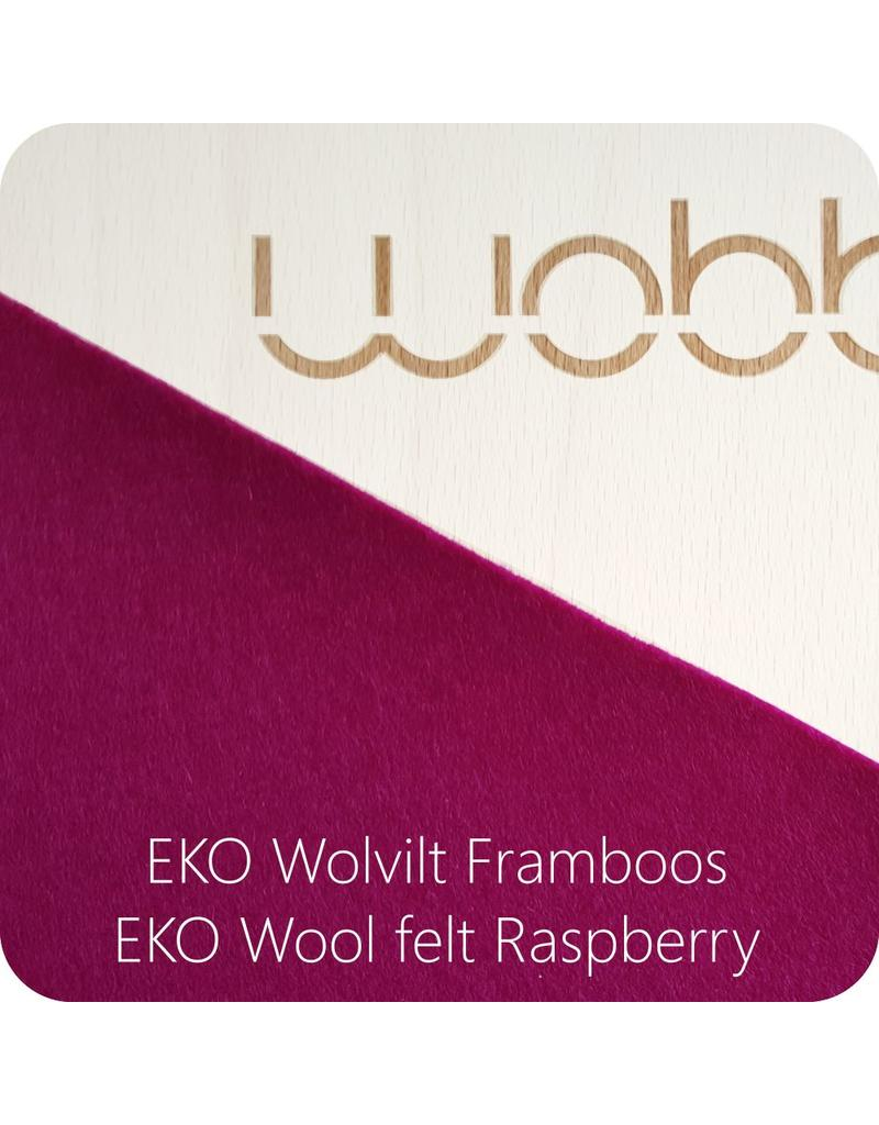 Wobbel XL Linnen; whitewashed beech wood