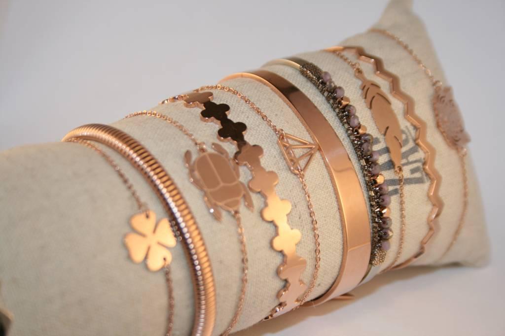 ZAG Bijoux ZAG Bijoux - Klavertje vier rosé goud