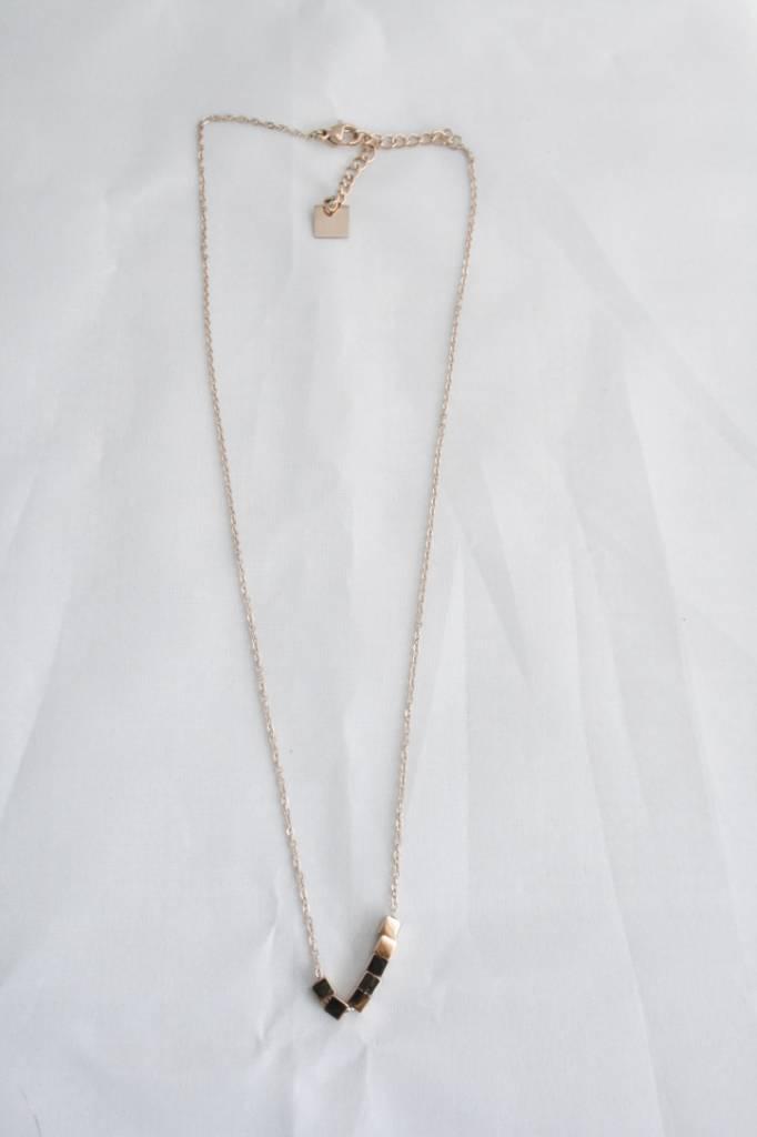 ZAG Bijoux ZAG Bijoux - Kubus/cubus rose goud ketting