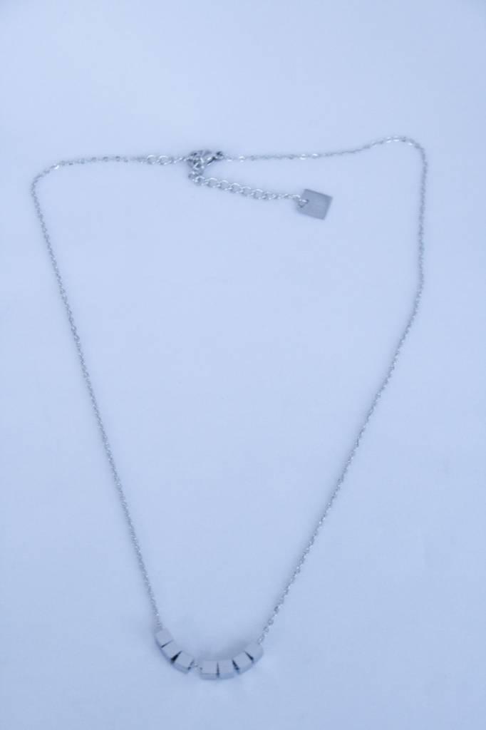 ZAG Bijoux ZAG Bijoux - kubus/cubes zilver ketting