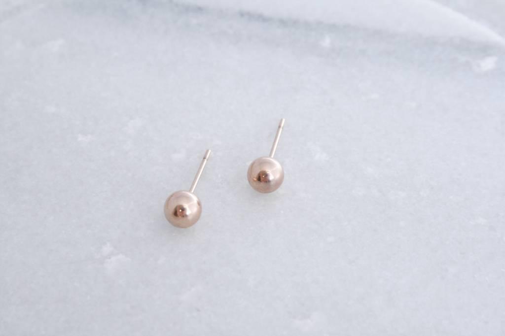 ZAG Bijoux ZAG Bijoux - Massief rondje rose goud oorbellen