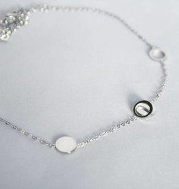ZAG Bijoux ZAG Bijoux enkelbandje - Cirkel/rondjes zilver