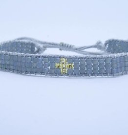By Loffs By Loffs armband - Grey/gold