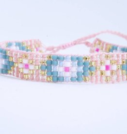 By Loffs By Loffs armband - Old pink/blue