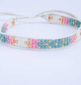 By Loffs By Loffs armband - White/blue/pink