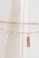 ZAG Bijoux ZAG Bijoux - Armband met losse rechthoekjes rose goud
