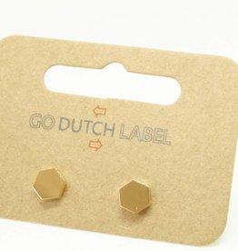 Go Dutch Label Oorbellen Go Dutch Label - Zeshoek goud