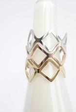 ZAG Bijoux ZAG Bijoux - Ring ruit rose goud