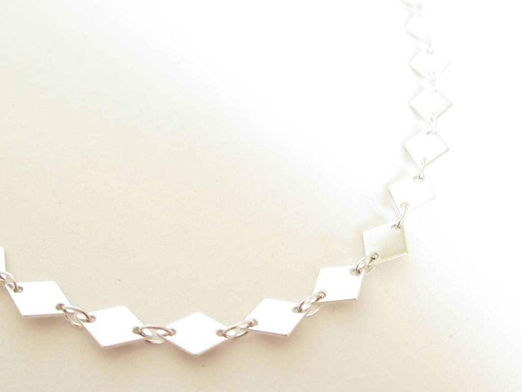 Made by Mila Made by Mila - Ruit choker zilver